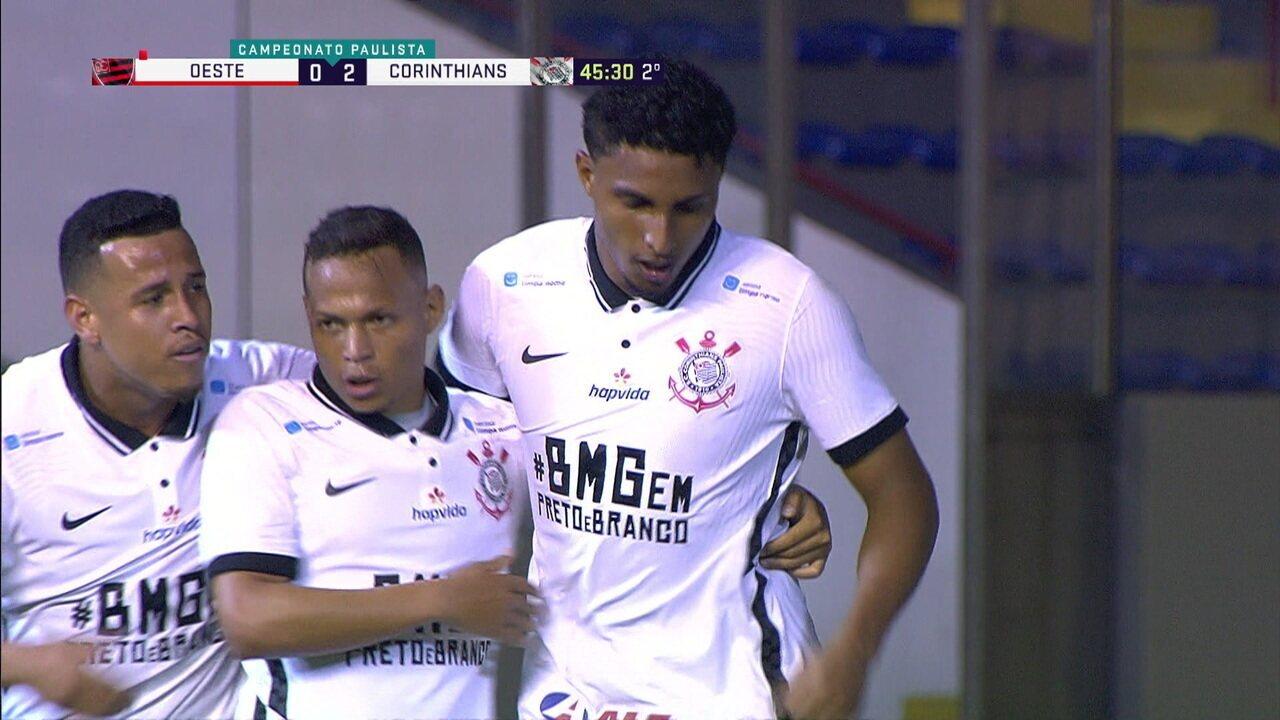 Os gols de Oeste 0 x 2 Corinthians pela 12ª rodada do Campeonato Paulista