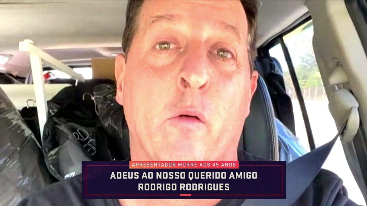 Benjamin Back se emociona ao falar sobre Rodrigo Rodrigues