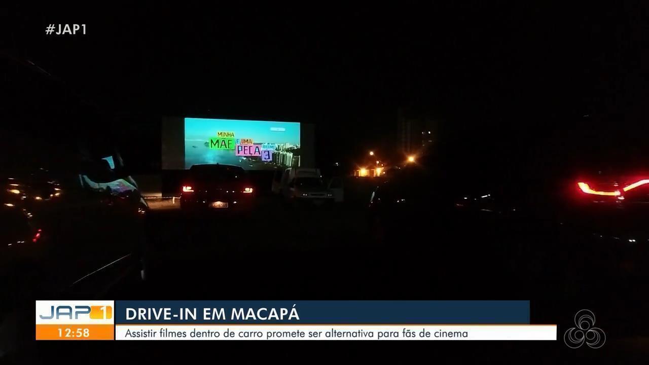Assistir filmes de dentro de carro é alternativa para os fãs de cinema em Macapá