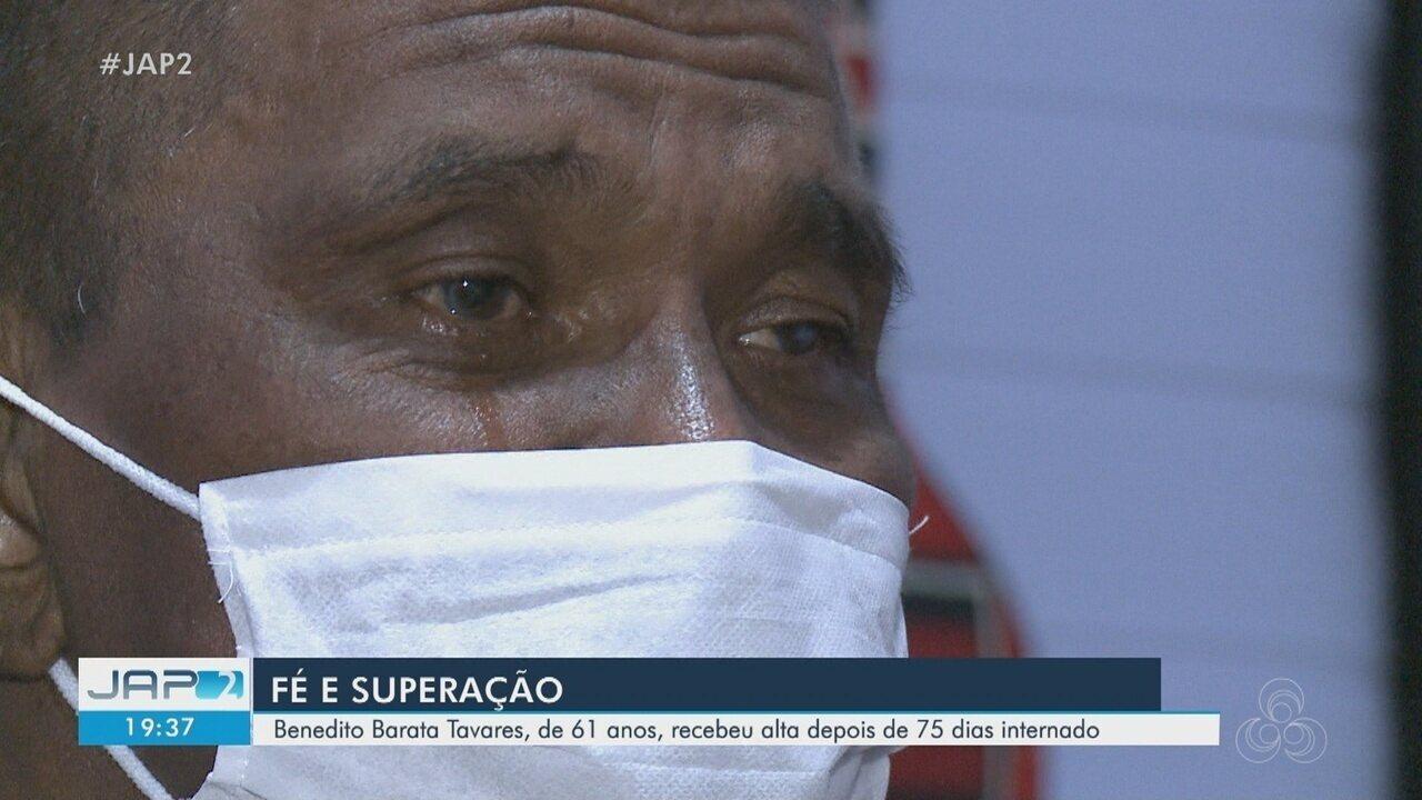 Covid-19: Benedito Barata, de 61 anos recebeu alta hospitalar após 75 dias internado no AP