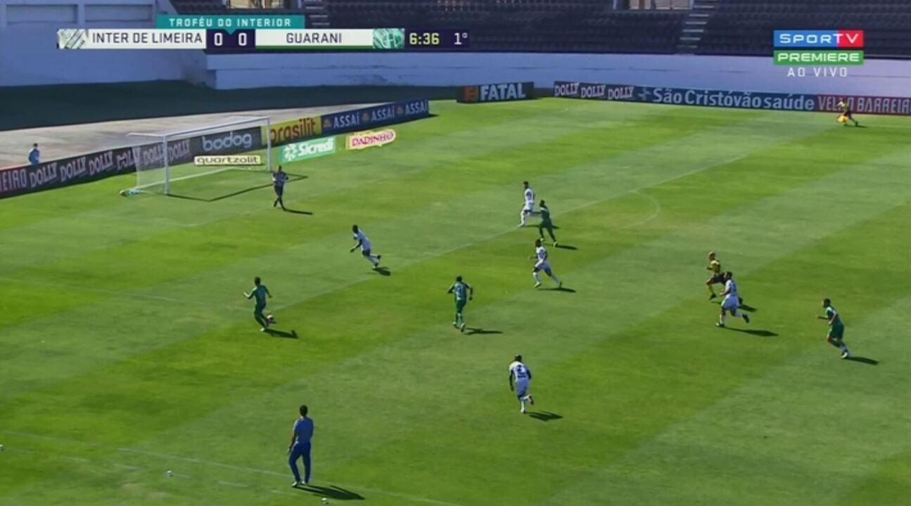 Os melhores momentos de Inter de Limeira 1x2 Guarani, pela semifinal do Troféu do Interior