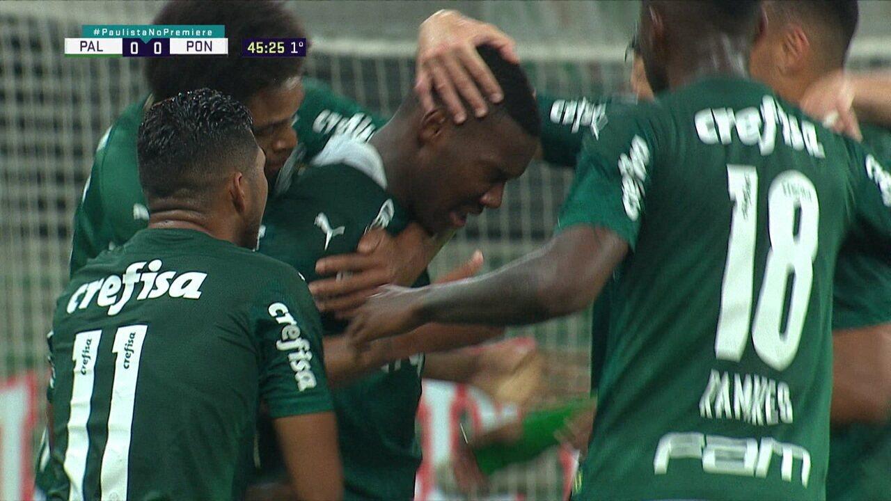 Veja o gol de Patrick de Paula, pelo Palmeiras, contra a Ponte Preta