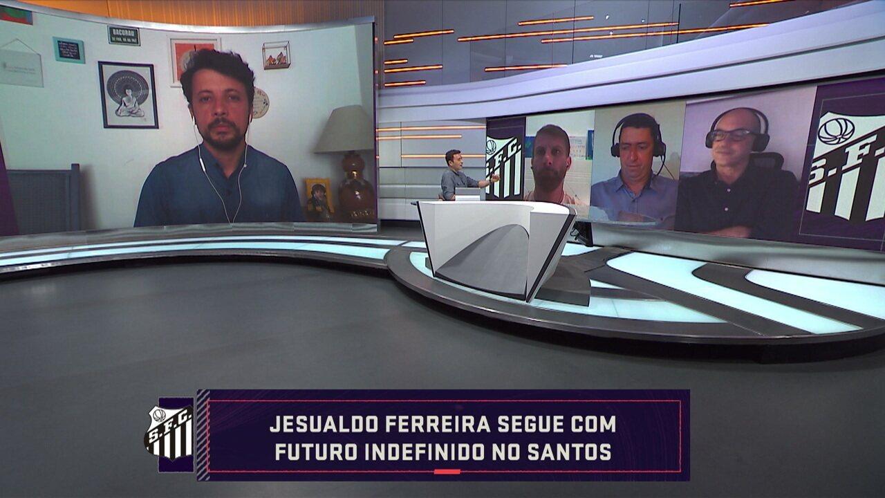 """Comentaristas analisam situação de Jesualdo no Santos, e Rizek fala sobre possível demissão: """"Seria uma covardia"""""""