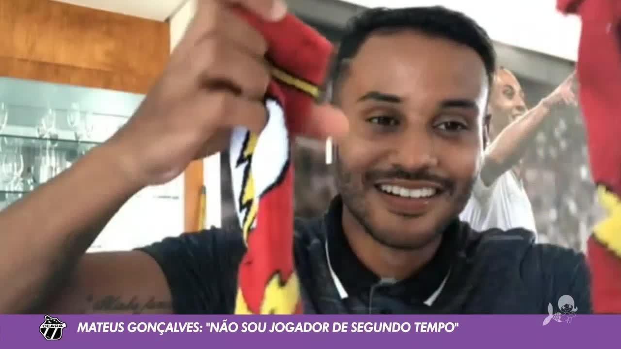 """Mateus Gonçalves fala sobre fase no Ceará: """"Não sou jogador de segundo tempo"""""""