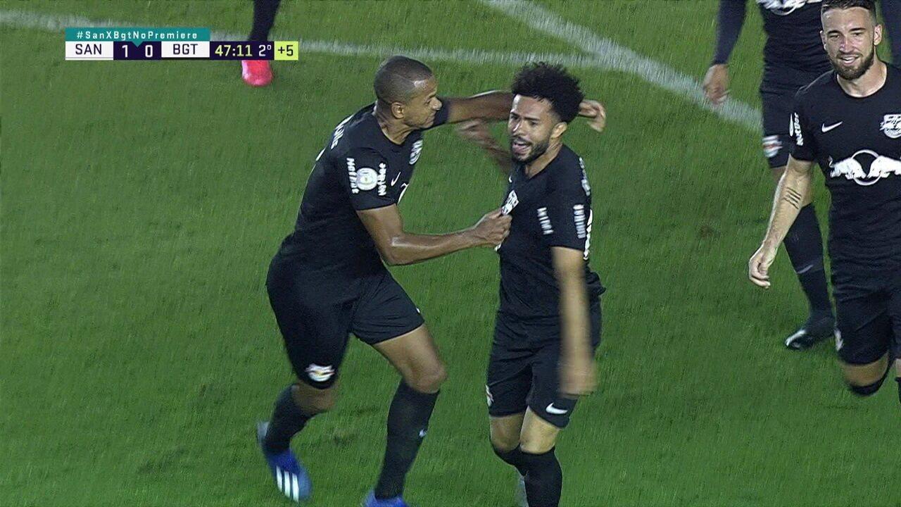 Os gols de Santos 1 x 1 Bragantino pela 1ª rodada do Brasileirão 2020