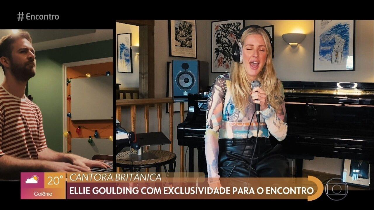 Ellie Goulding gravou duas músicas com exclusividade para o 'Encontro'