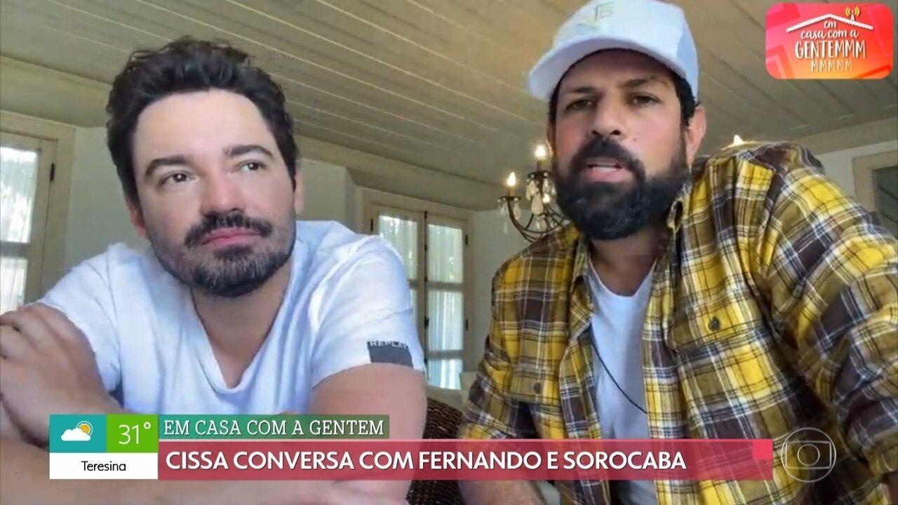 Fernando e Sorocaba contam o que pretendem fazer ao fim da pandemia