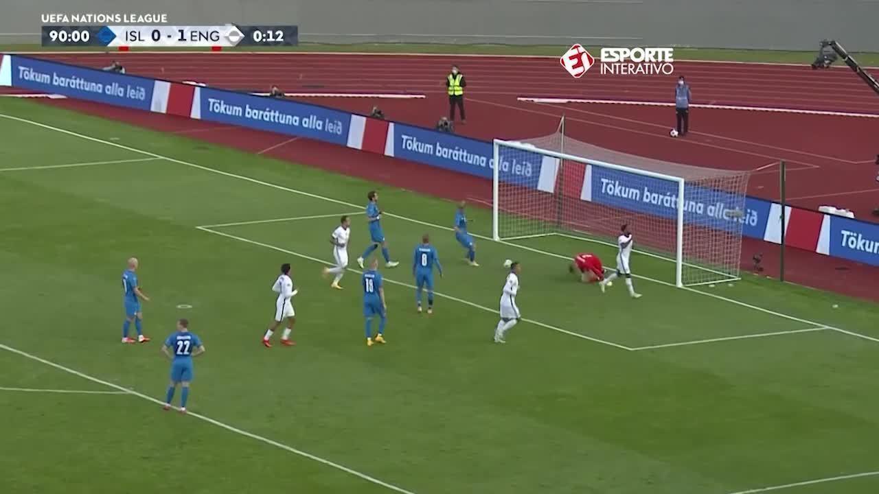 O gol de Islândia 0 x 1 Inglaterra, pela Liga das Nações