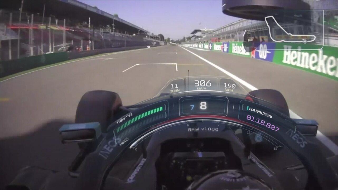 Onboard: a pole de Lewis Hamilton no GP da Itália