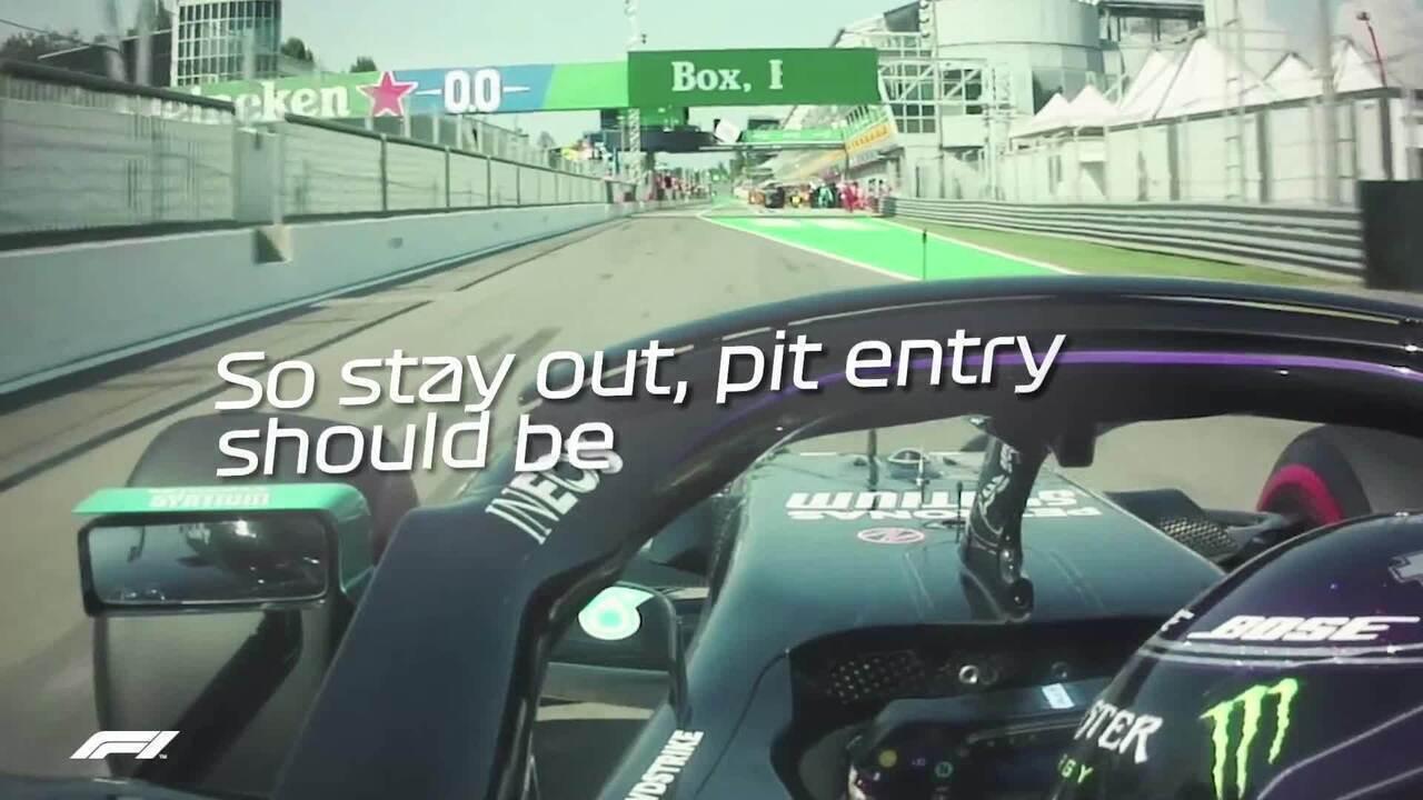GP da Itália: os rádios do momento da polêmica com a punição a Lewis Hamilton