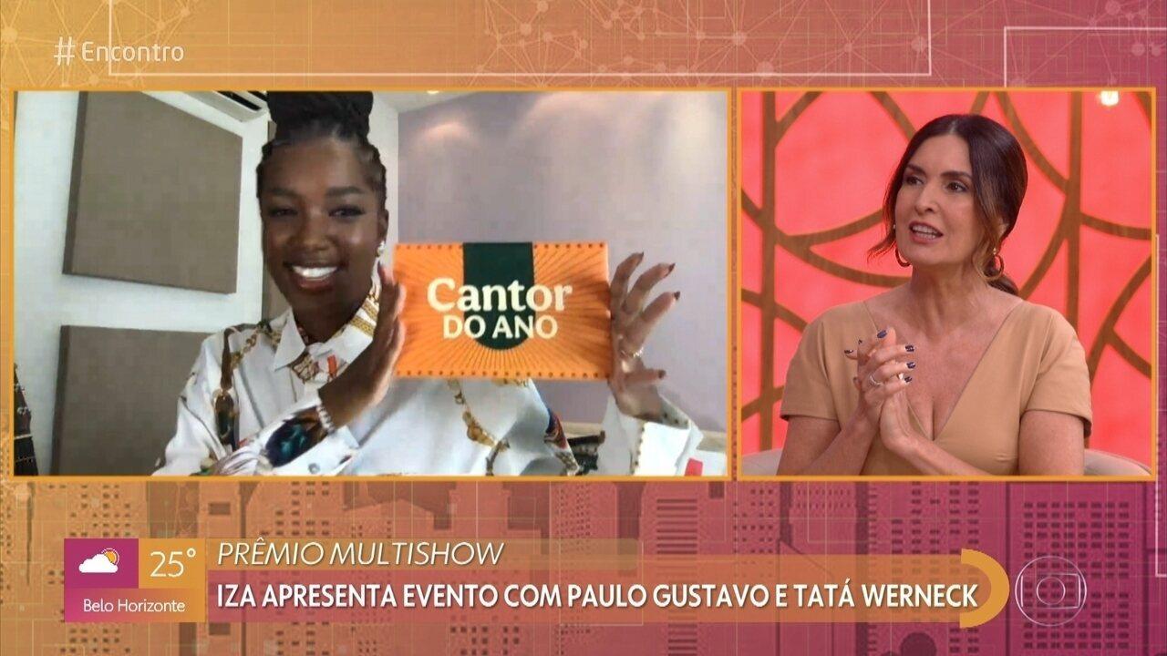 IZA anuncia indicados para Cantor do Ano no Prêmio Multishow 2020