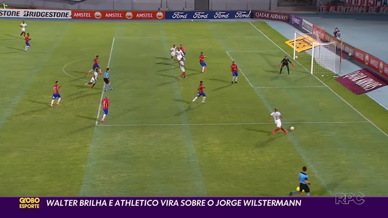 Em 20 jogos pelo Athletico, Walter marcou um gol contra o Jorge Wilstermann