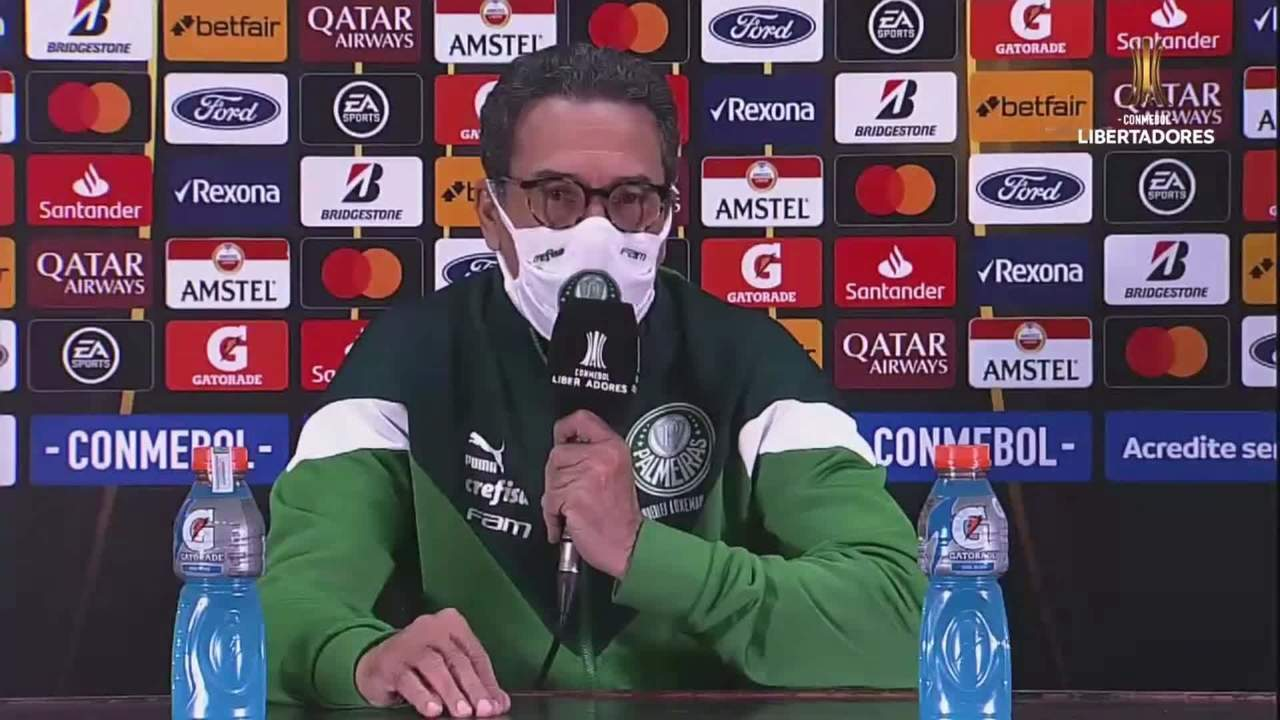 Veja a entrevista de Vanderlei Luxemburgo após a vitória do Palmeiras sobre o Bolívar