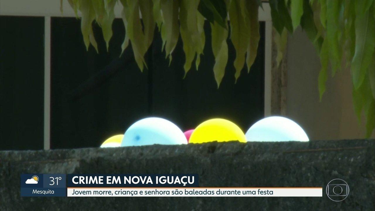 Jovem é morto durante festa infantil, em Nova Iguaçu