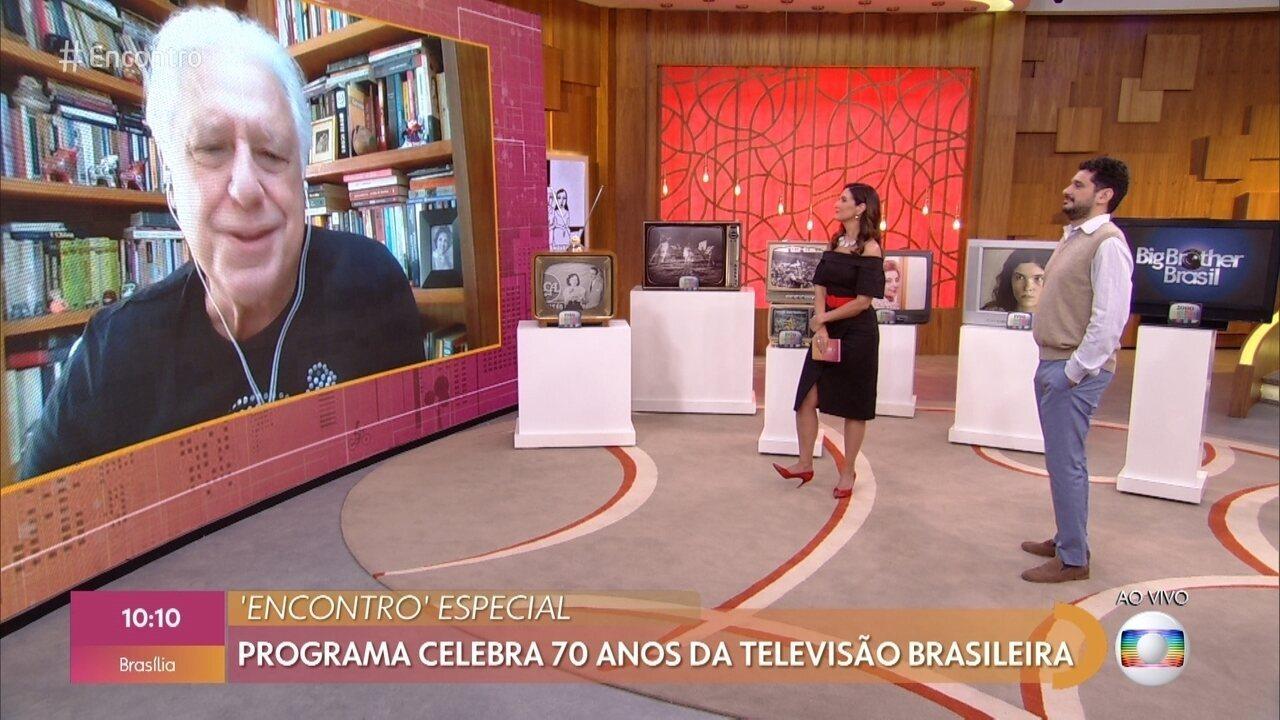 Antonio Fagundes relembra momentos marcantes de sua história na TV