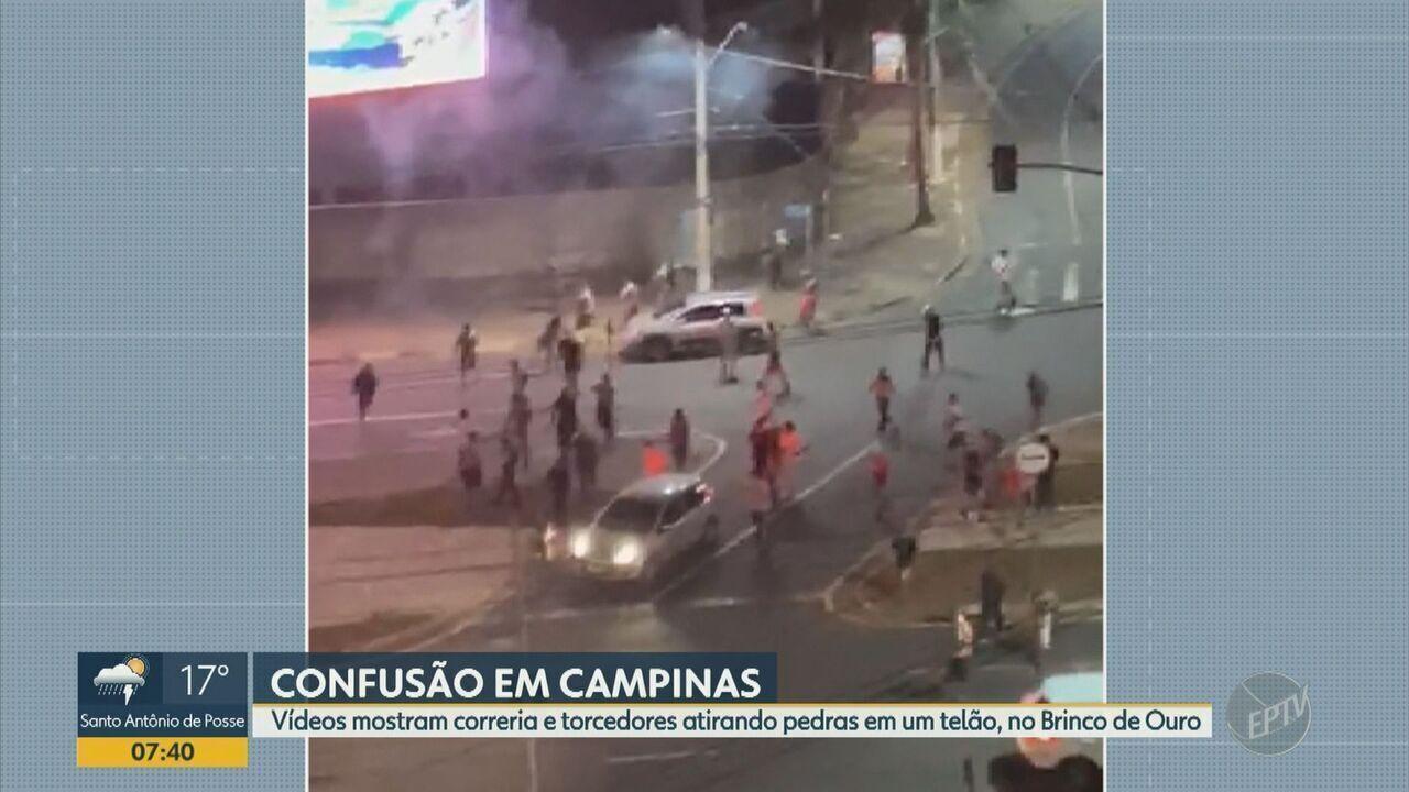 Torcedores da Ponte Preta protagonizam cenas de vandalismo após empate com o Operário