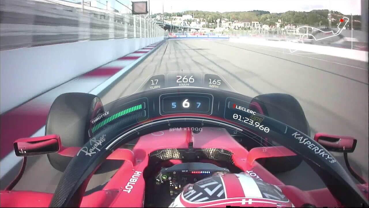 Onboard: a pole de Charles Leclerc no GP da Rússia de 2019