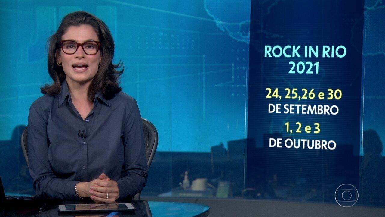 Divulgadas as datas do Rock in Rio 2021