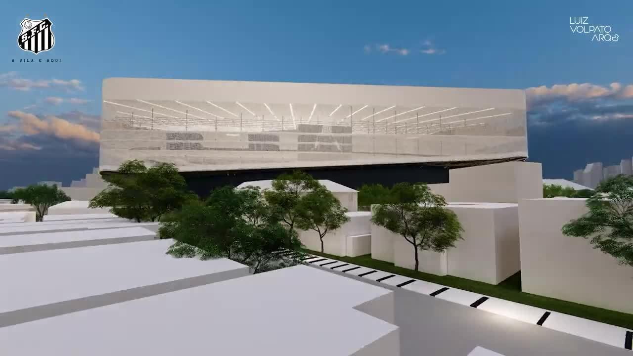 Veja o projeto da reforma da Vila Belmiro apresentado aos conselheiros no ano passado; ele deve sofrer alterações