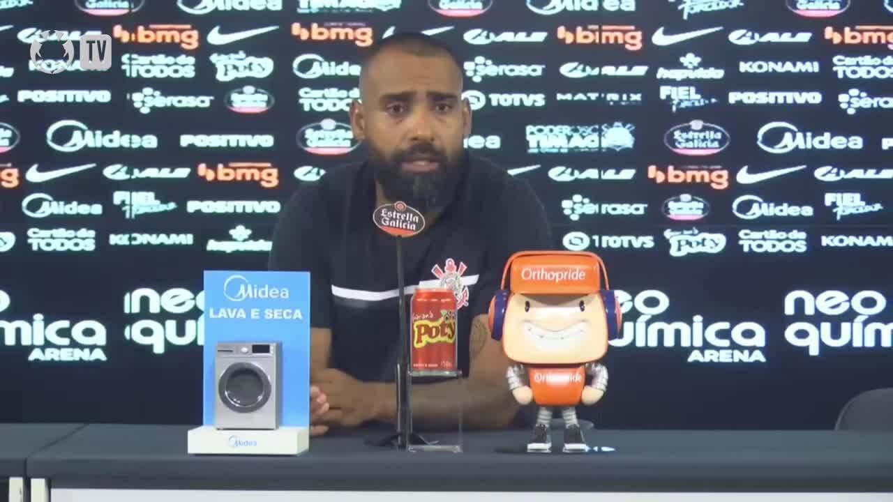 Confira a coletiva de Dyego Coelho, Técnico do Corinthians, após empate com o Atlético-GO