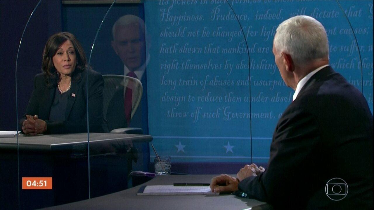 Em debate civilizado, Kamala Harris diz a Mike Pence que Trump fracassou na pandemia