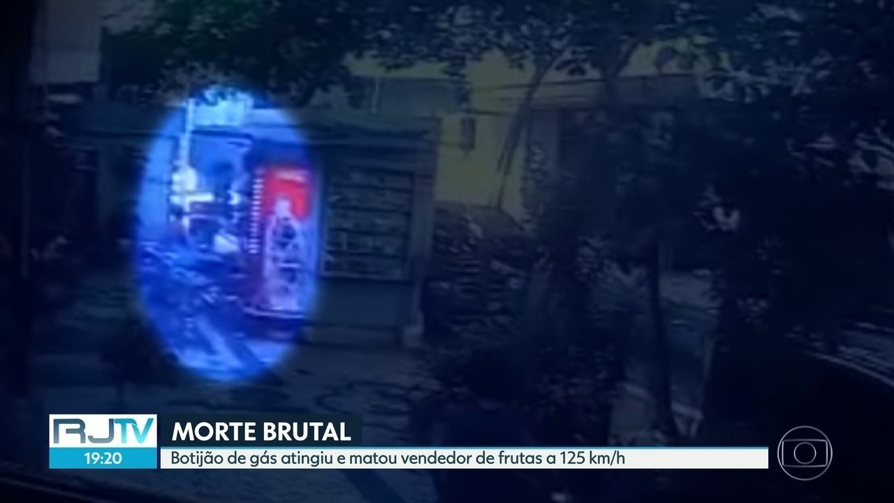 Botijão de gás atingiu e matou vendedor de frutas a 125 km/h