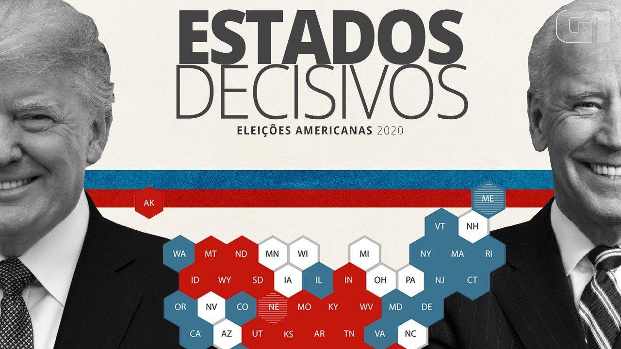 Eleições nos EUA: saiba quais estados são os principais campos de batalha na disputa