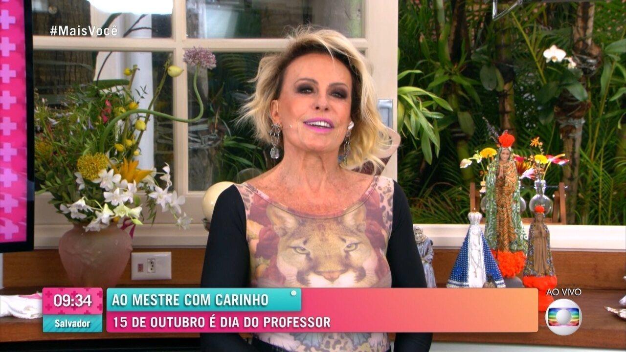 Ana Maria Braga revela que se formou professora