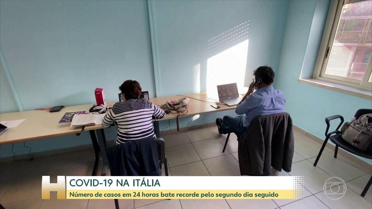 Itália bate recorde em casos diários de COVID-19
