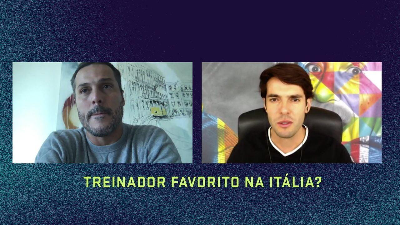 Júlio César e Kaká relembram histórias de Inter e Milan no Papo de Bota
