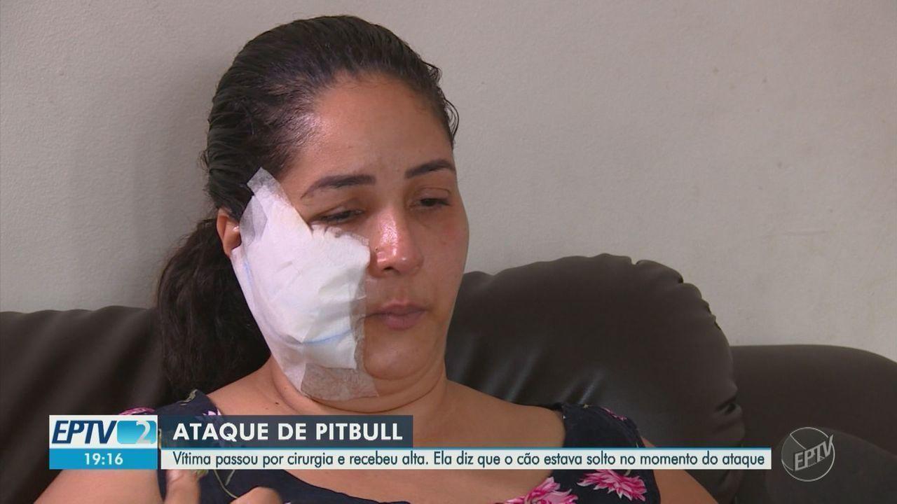 Mulher vítima de ataque de cão em Campinas recebe alta após cirurgia no rosto