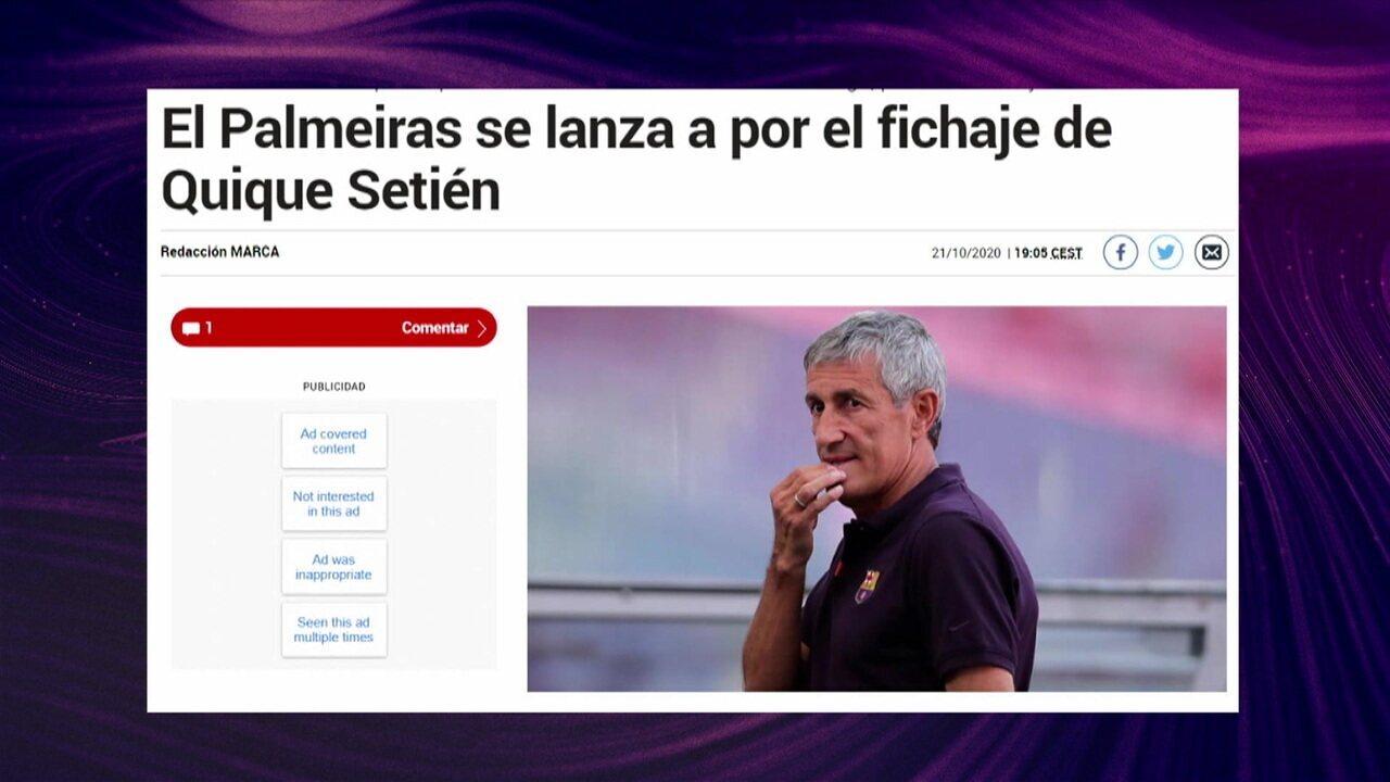 Segundo a imprensa espanhola, o Palmeiras está interessado em Quique Setién, ex-técnico do Barcelona