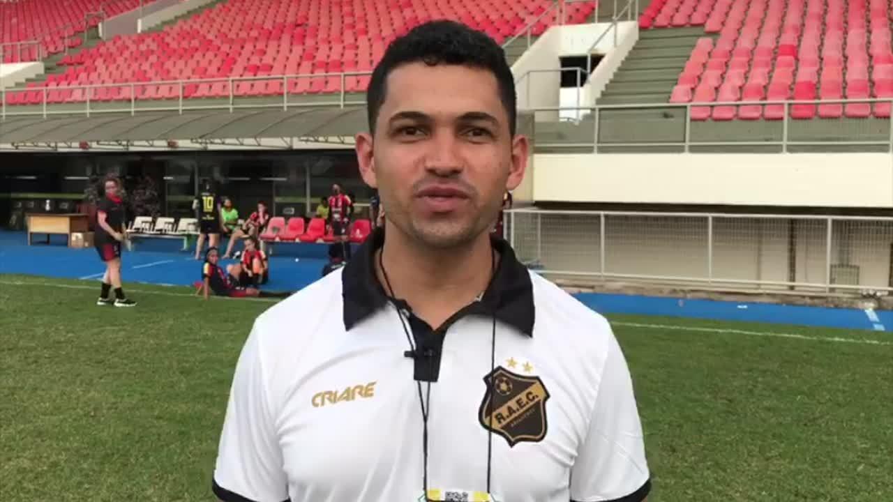 Técnico do Real Ariquemes comemora vitória na Série A2 do Brasileirão Feminino
