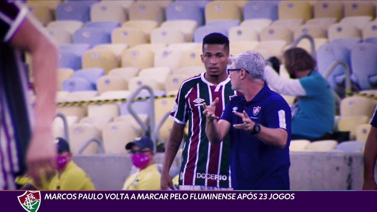 Marcos Paulo volta a marcar pelo Fluminense após 23 jogos