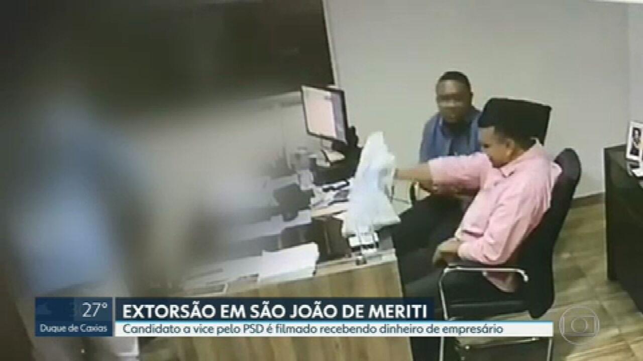 Candidato a vice-prefeito de São João de Meriti é flagrado recebendo dinheiro de empresário