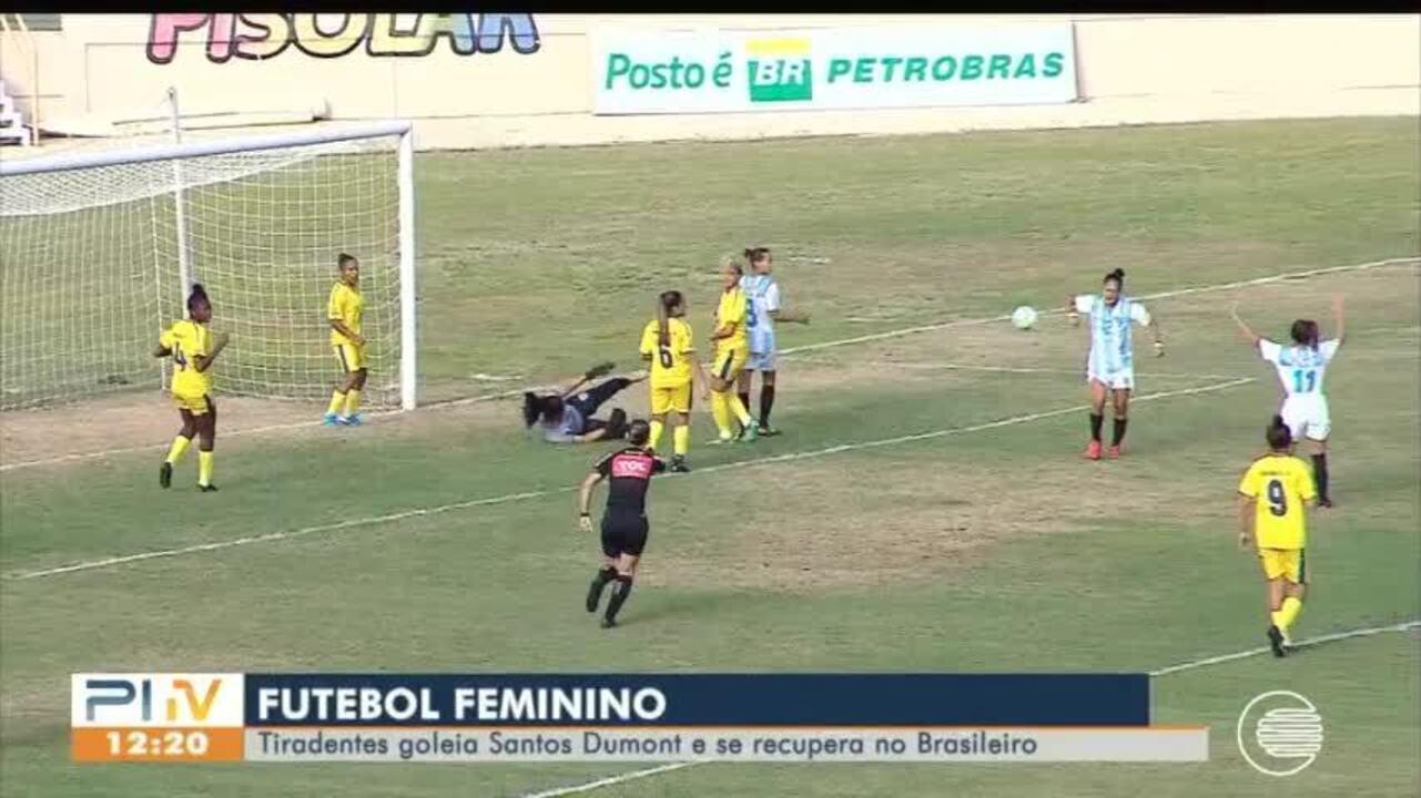 Tiradentes goleia o Santos Dumont e se recupera no Brasileiro