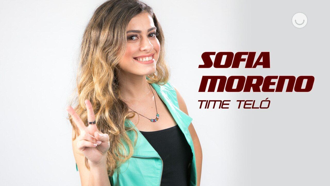 Conheça a participante Sofia Moreno, do Time Teló