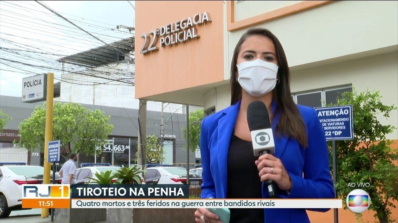 Invasão de bandidos rivais no Complexo da Penha deixa três mortos e quatro feridos