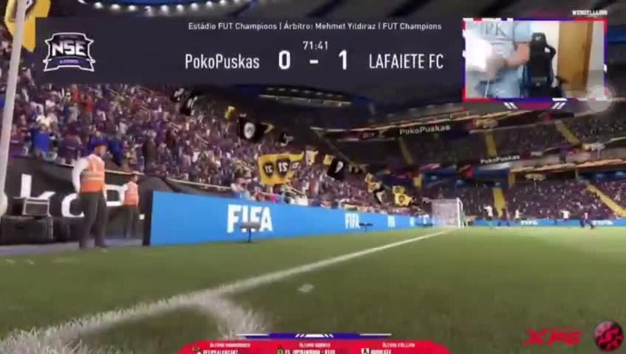 "Wendell Lira solta ""hadouken"" de raiva após perder gol no FIFA"