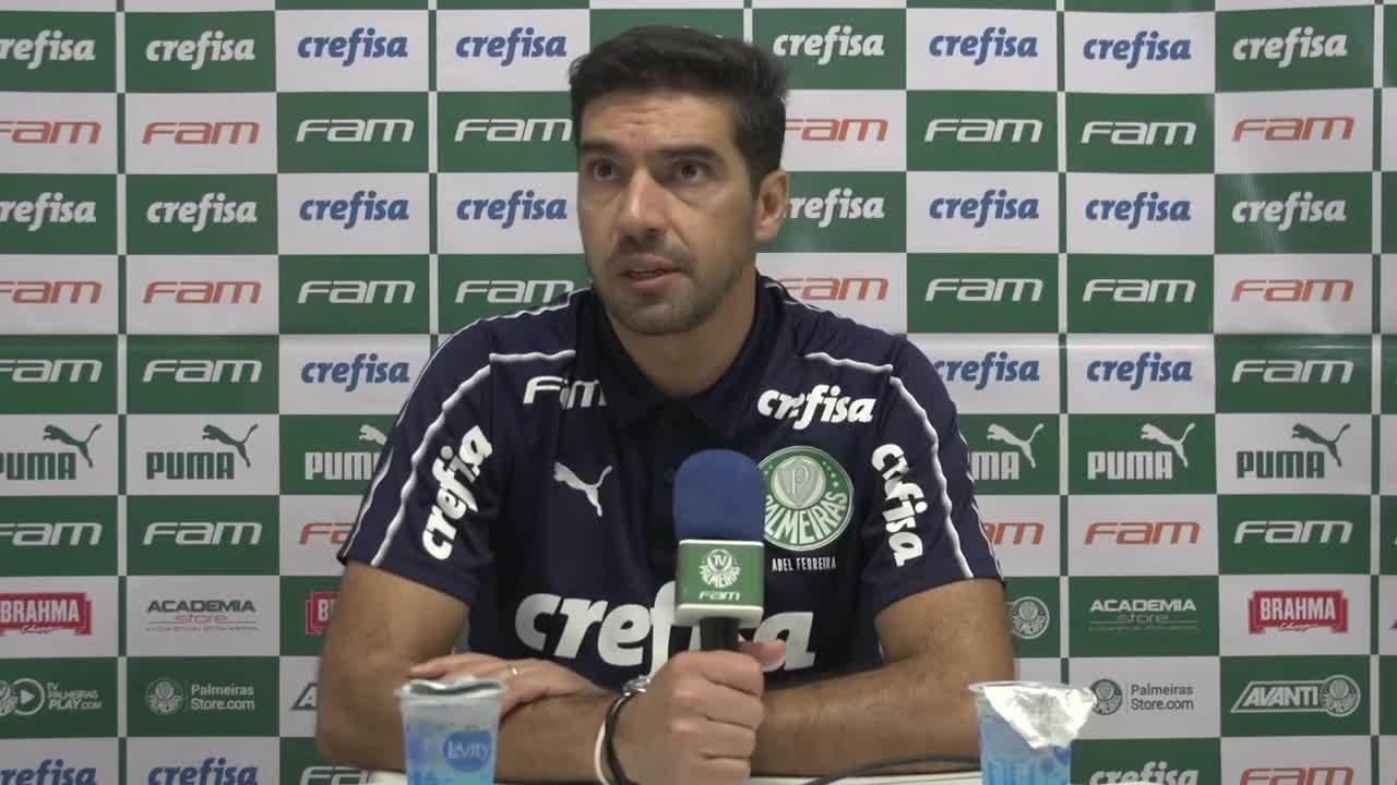 Veja a coletiva de Abel Ferreira, do Palmeiras, após a derrota para o Goiás