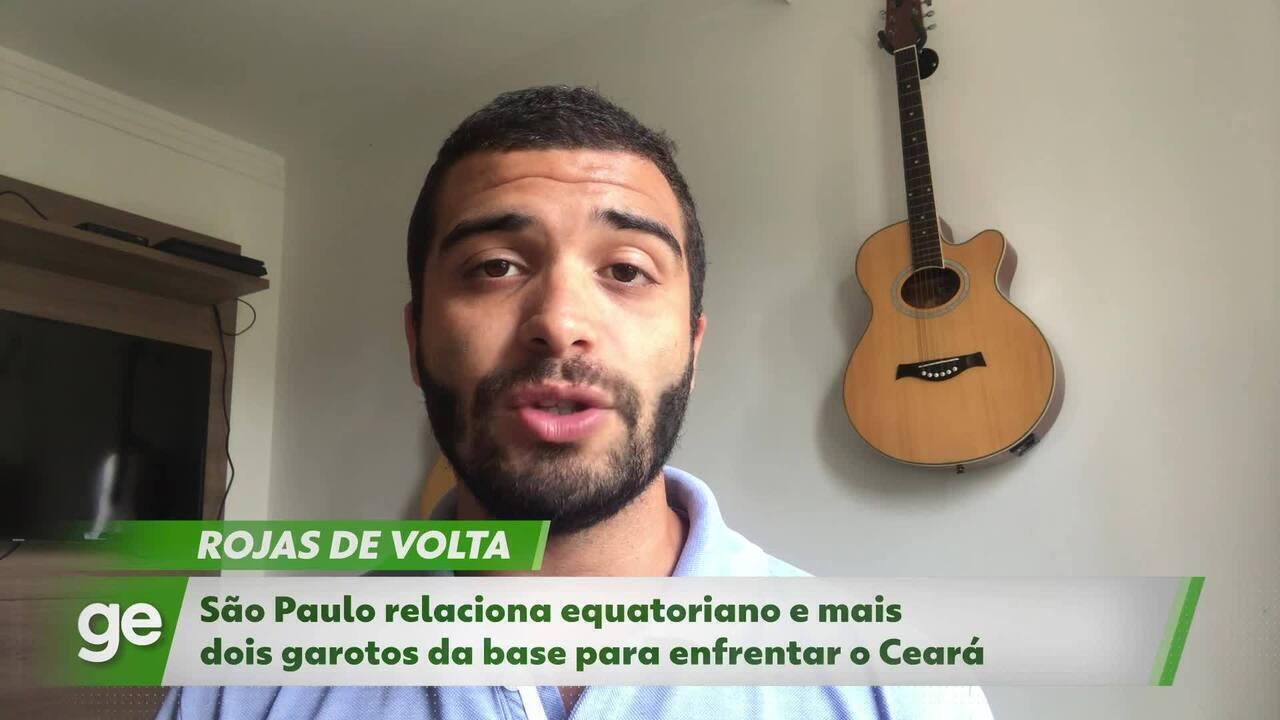 São Paulo em 1 minuto: Rojas de volta, novatos relacionados e escalação