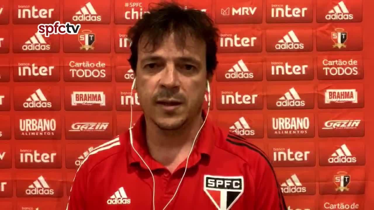 Veja a coletiva de Fernando Diniz, do São Paulo, após o empate com o Ceará, no Brasileiro