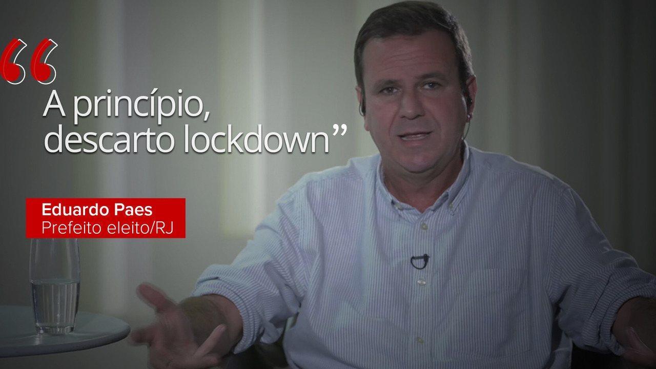 Prefeito eleito diz que não pensa em lockdown para a cidade do Rio de Janeiro