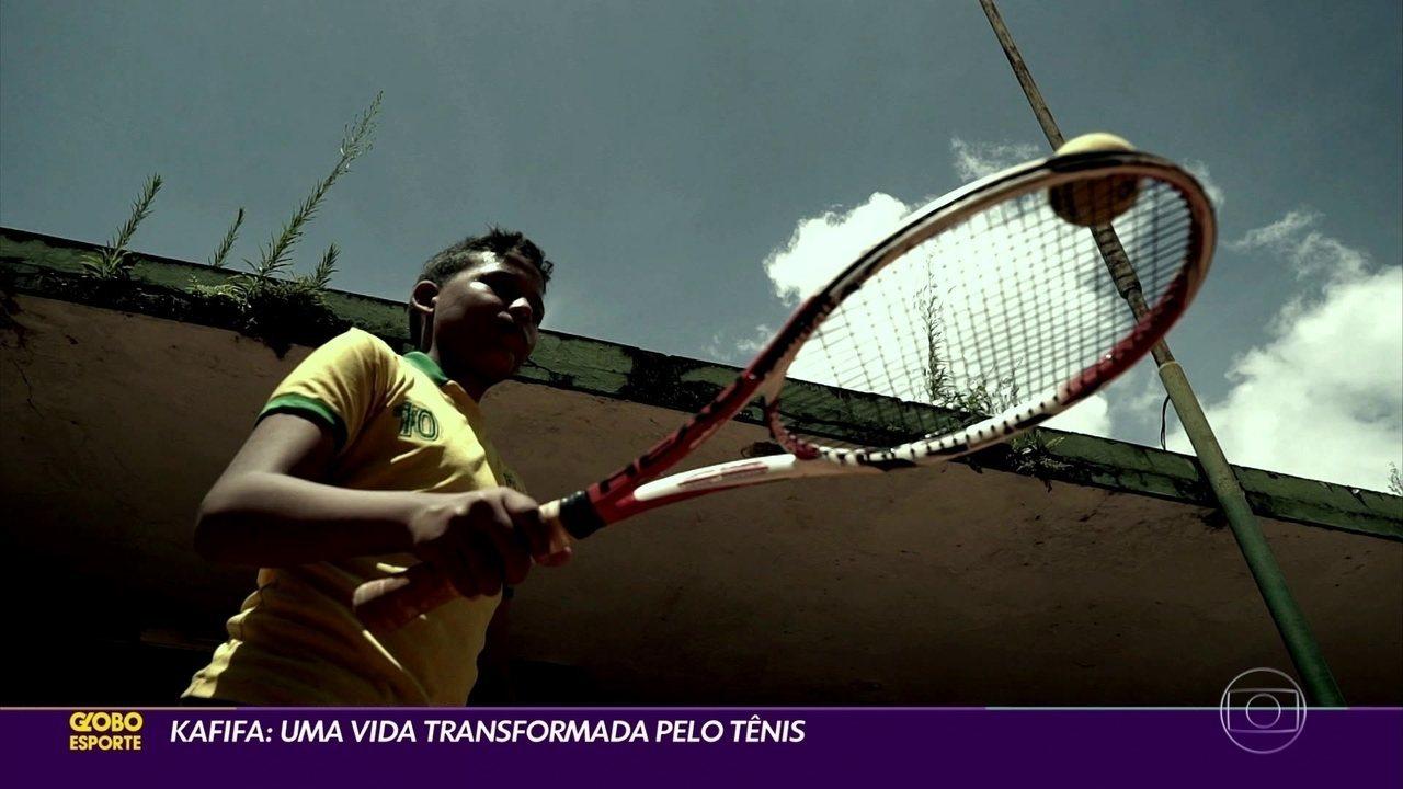 Kafina, o flanelinha, que sonhava em jogar futebol e teve a vida mudada pelo tênis