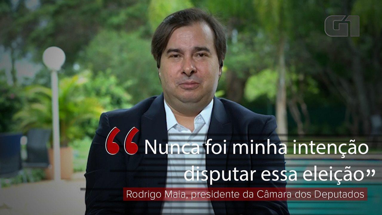 VÍDEO: 'Nunca foi minha intenção disputar esta eleição', diz Rodrigo Maia
