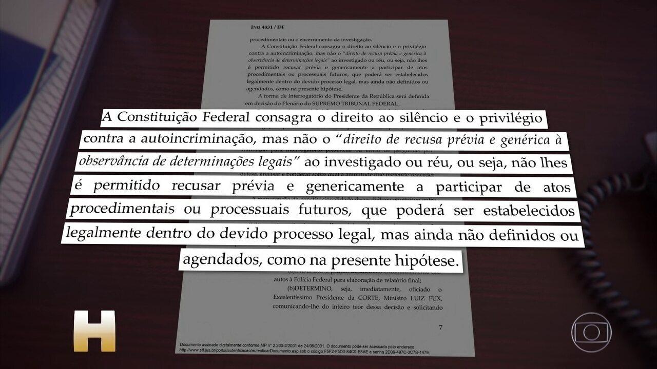 Moraes decide que Bolsonaro não pode desistir de prestar depoimento à Polícia Federal