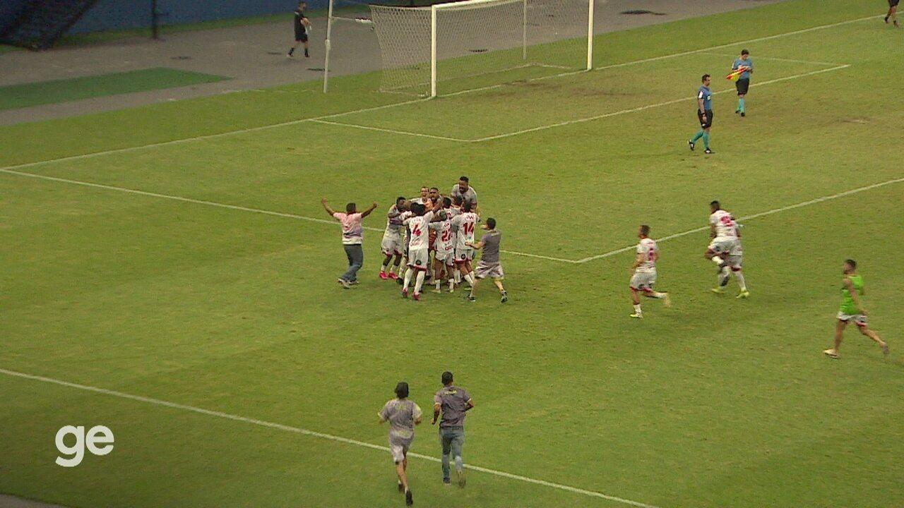 Veja o gol e os pênaltis de Fast 1 (6 x 5) 0 Globo-RN, pela Série D