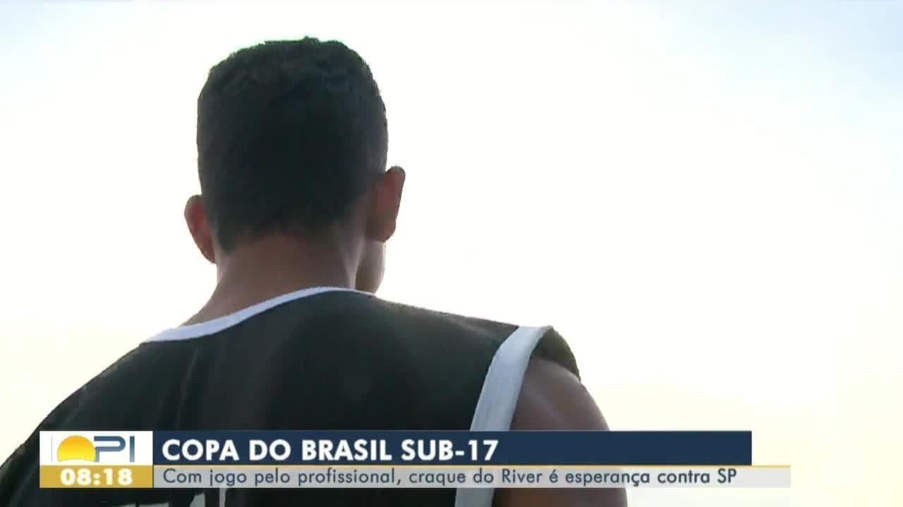 Joia do River-PI é esperança tricolor contra o São Paulo pela Copa do Brasil sub-17