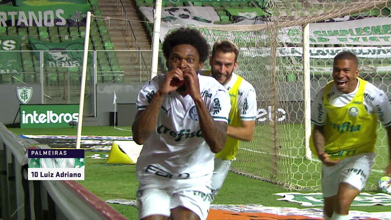 Gol do Palmeiras! Luiz Adriano chuta de fora da área e marca, na semifinal da Copa do Brasil