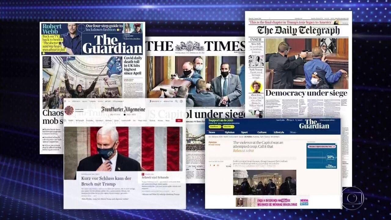 Imprensa internacional repercute invasão ao capitólio em Washington